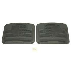 Weather Floor Mats-Chevrolet Nova Gray 2 PC Rear